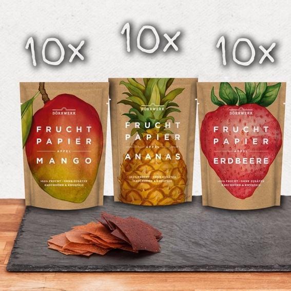 Fruchtpapier Box - 30 x Fruchtpapier (3 x 10)