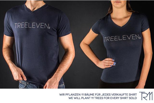 TREELEVEN .com   Für jedes Shirt pflanzen wir 11 Bäume