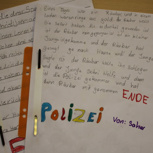 Eine handgeschriebene, selbstausgedachte Geschichte der Leseclubkinder