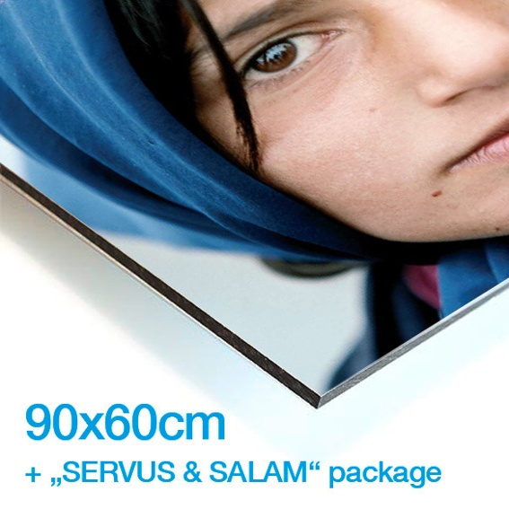 "LIMITED EDITION PHOTOGRAPHIC PRINT OF YOUR CHOICE (90 x 60) + THE ""SERVUS & SALAM"" PACKAGE"