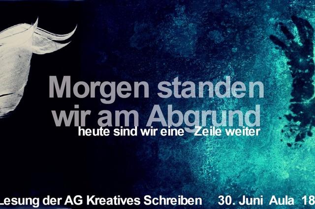 Die erste Anthologie der AG Kreatives Schreiben