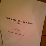 Signiertes Original-Drehbuch