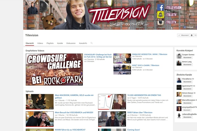 Youtube-Channel Tillevision retten