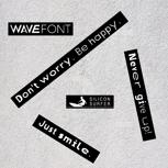 """5 WaveFont-Aufkleber """"Set 1"""""""
