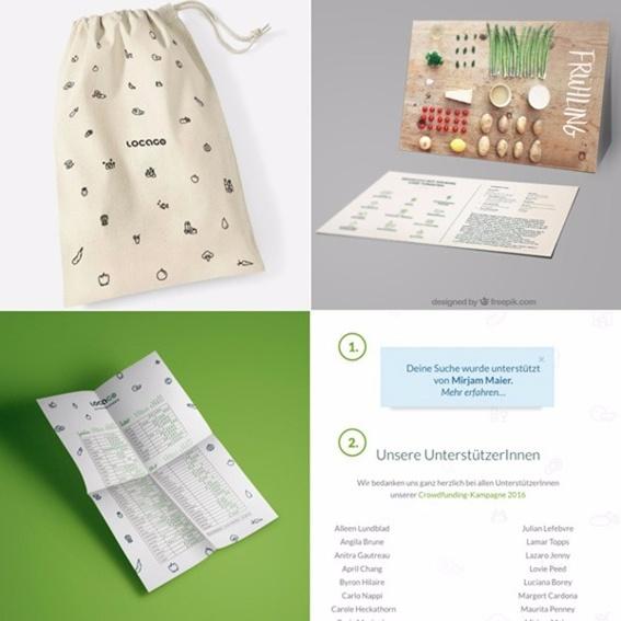 Baumwollbeutel, Rezeptkarten, Saisonkalender & Virtuelle Spendentafel