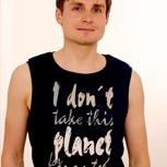 passion for planet no1 – men shirt schwarz armfrei