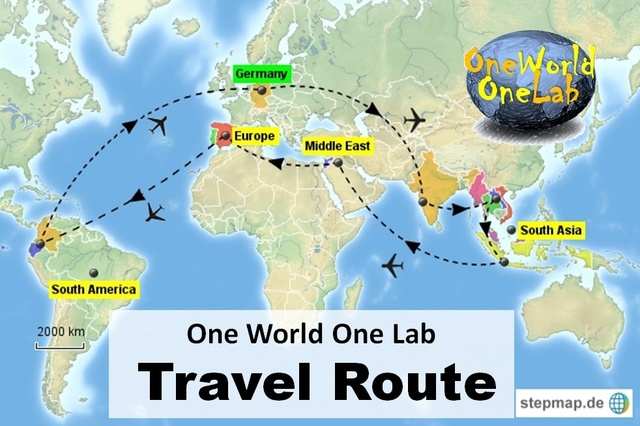 List of Synonyms and Antonyms of the Word: one world route map