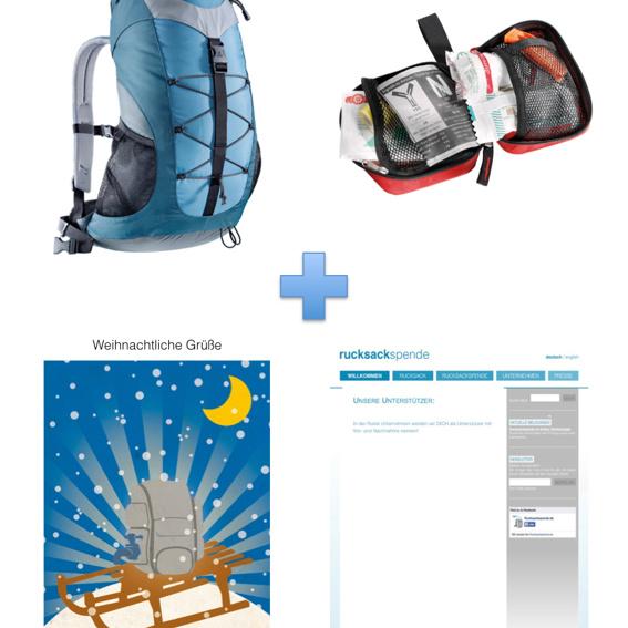 Rundumsorglos: Deuter Rucksack AC Lite + Deuter First Aid Kit + Weihnachtskarte + Namensnennung