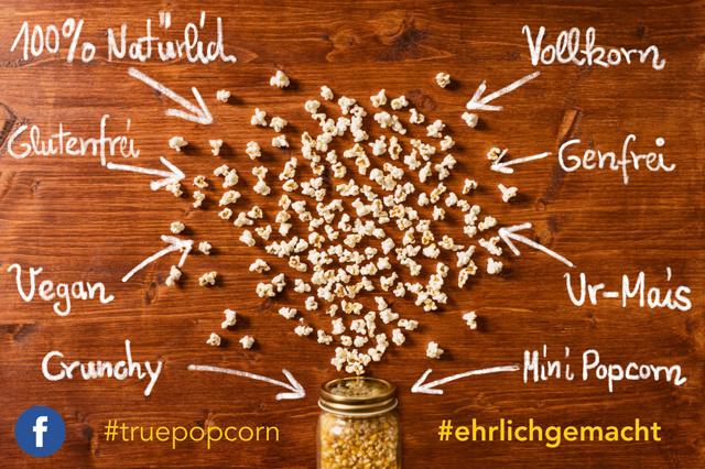 True Popcorn - aus Ur-Mais - ohne Schalen