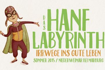 Hanflabyrinth 2015 - Irrwege ins gute Leben