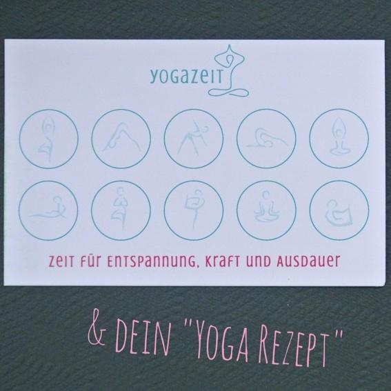 """10-er Karte (zeitlich unbegrenzt) + Dein """"Yoga-Rezept"""""""