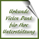 Dankeschön-Urkunde per Mail