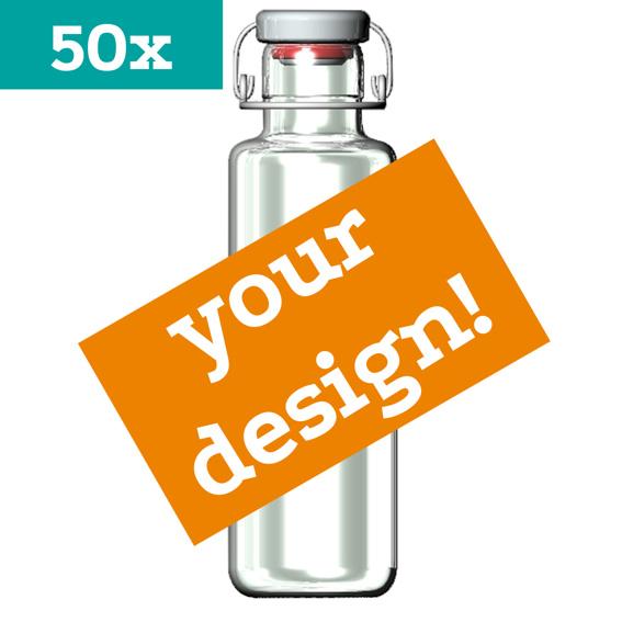 50 soulbottles mit Ihrem INDIVIDUELLEN DESIGN