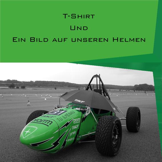 T-shirt + Bild auf Helm