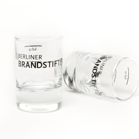 2x Berliner Brandstifter Shotgläser  + Gin Rezepte