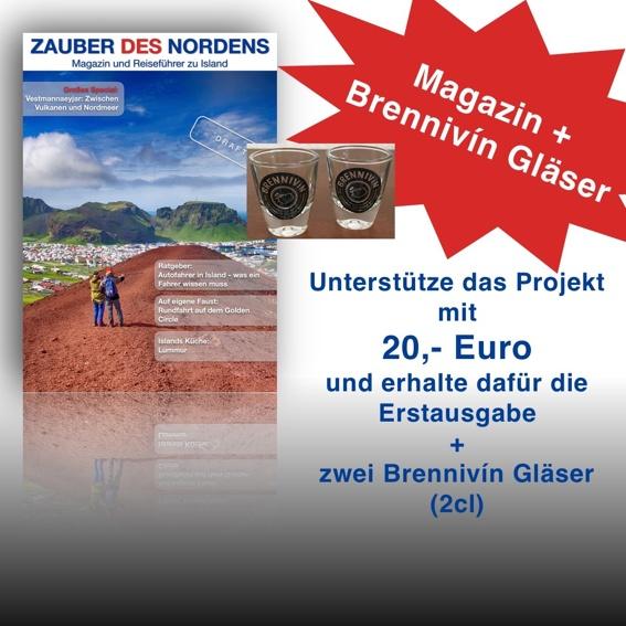 Magazin + 2 Brennivín Gläser