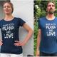 """Made with Prana and Love"" T-Shirt indigo blau"