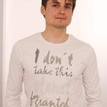 passion for planet no1 – men shirt creme longsleeve