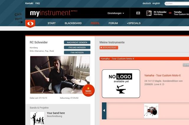 myinstrument.de - Social Web für Musiker und Instrumente