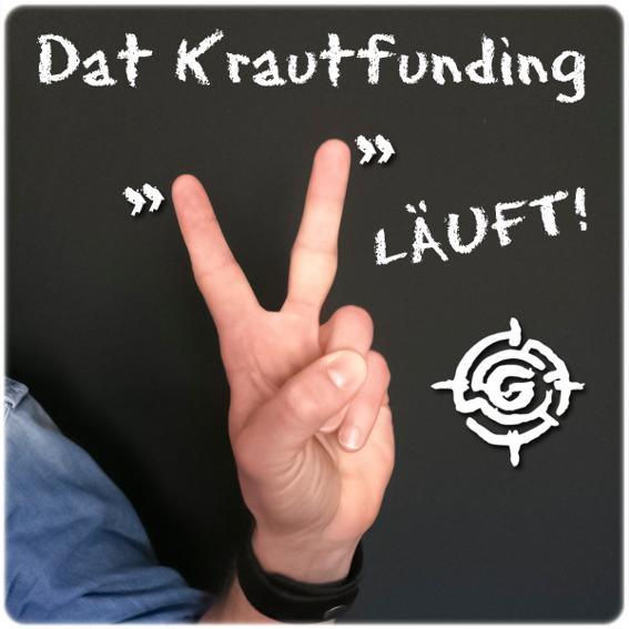 "Schwarzes Silikonarmband ""DAT KRAUTFUNDING LIEF – ICH WAR DABEI!"""