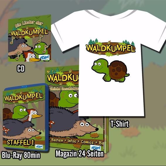 CD, T-Shirt, Blu-Ray und Magazin