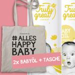 2x BabyÖl + #ALLES HAPPY BABY Tasche