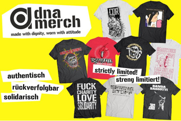 dna merch - made with dignity, worn with attitude