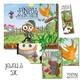 """5x Buch """"Pinipas Abenteuer – Die Gartendetektivin und die verschwundene Silbergabel"""", 5x Postkarten-Set"""