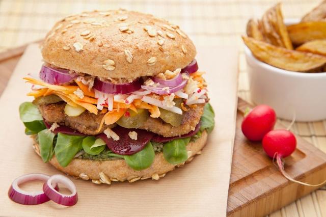 Deutschlands erstes veganes Bio Burger Restaurant