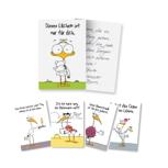 Fünf Personalisierte Storchen-Grußkarten