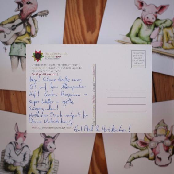Postkarte vom Lager
