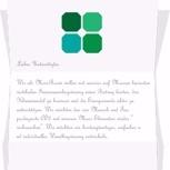 Ein persönlicher, handgeschriebener Dankeschön Brief