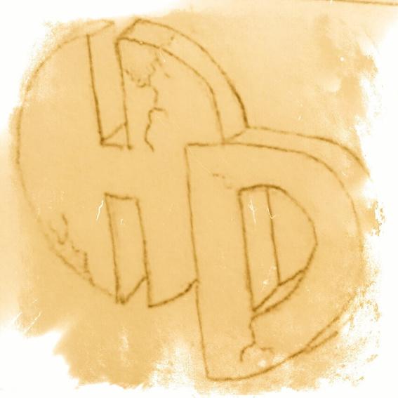 Restaurant Gutschein + Heroes Diner Logo als Scan