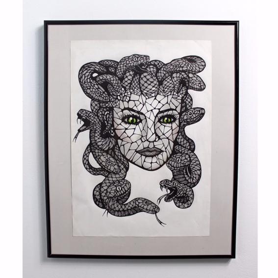 Medusa Photo-Print Handsigniert