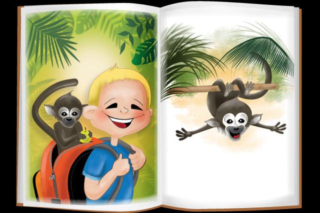 Gabriel und die frechen Affen