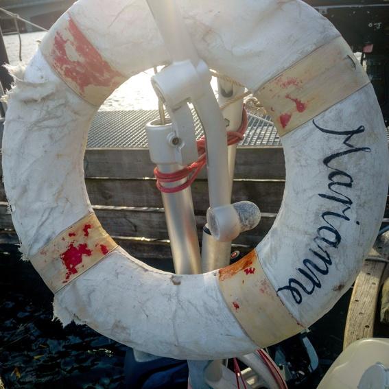 Original Rettungsring, seit Koh Samui mit an Bord