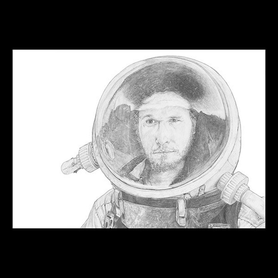 Raumfahrer Portrait ORIGINAL
