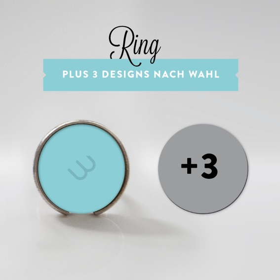 Ring mit 3 Designs (Einführungspreis!)