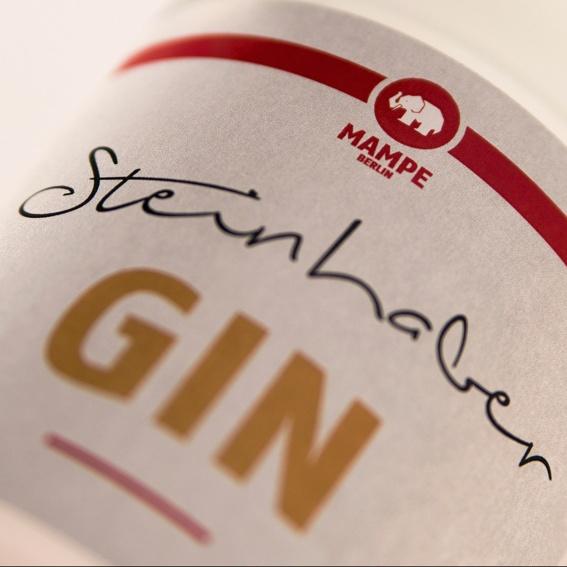"""5 Steine + 1 Flasche """"STEINHABER-GIN"""""""