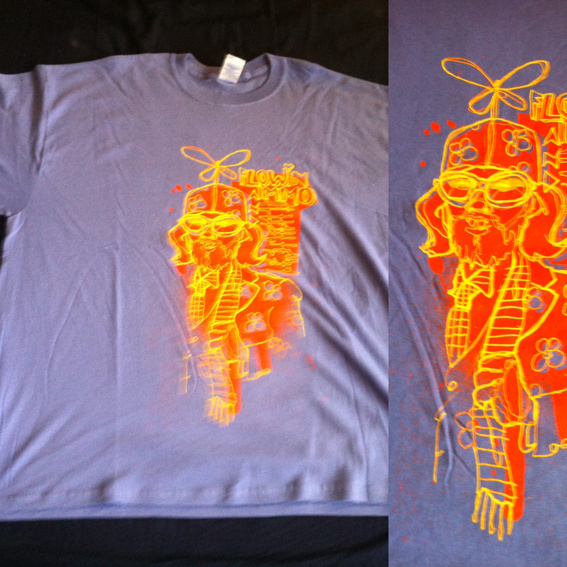 XXL T-Shirt Lavendel Herakut