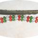 1 Lesezeichen mit Perlen & Weihnachtskuchenstück