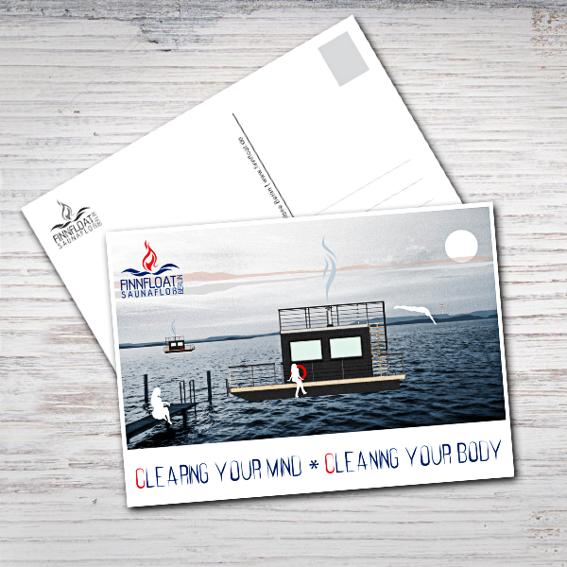 FINNFLOAT Dankeschön Postkarte