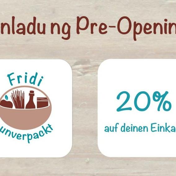 Einladung zum Preopening inkl. 20% auf Euren Einkauf
