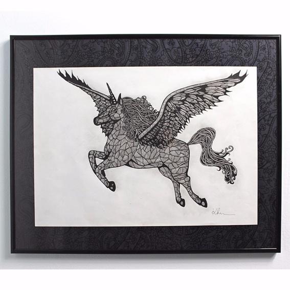 The Unicorn Photo-Print Handsigniert