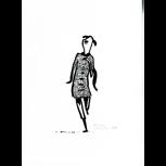 """Originalzeichnung """"Feine Dame"""" von Philip Waechter + POLLE #1"""
