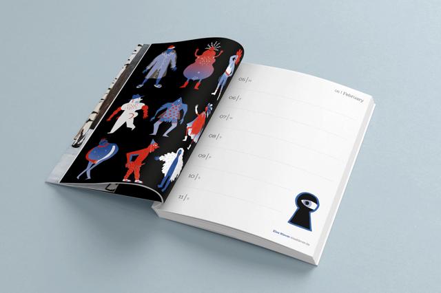 Illustrated Pocket Calendar 2018