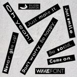 10 WaveFont-Aufkleber