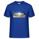 """1 x T-Shirt """"Mountains"""" (mit Motiv und WaveFont-Aufschrift)"""