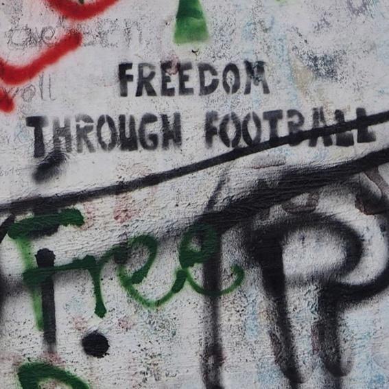 Graffiti an der Mauer