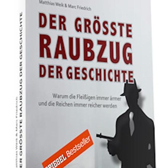 """Buch mit Widmung: """"Der größte Raubzug der Geschichte"""""""
